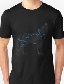 The Melody - Original Haida, Tlingit Wolf, Native American Art - Blue Unisex T-Shirt