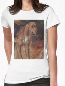 William Holman Hunt - Study of a bloodhound  Womens Fitted T-Shirt