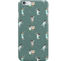 Oikawa Tooru Pattern - green iPhone Case/Skin