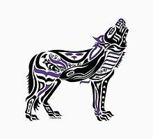 The Melody - Original Haida, Tlingit Wolf, Native American Art - Purple Unisex T-Shirt