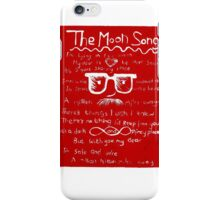 The Moon Song (lino print) iPhone Case/Skin