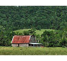 """A Farmer's Version of the Red Roof Inn""... prints and products Photographic Print"