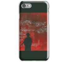 Warfare Monoprint & Stencil iPhone Case/Skin