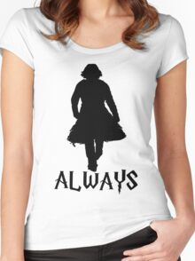 Snape and Lily Always 2 Women's Fitted Scoop T-Shirt