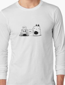 The Cat and The Mouse Print Long Sleeve T-Shirt