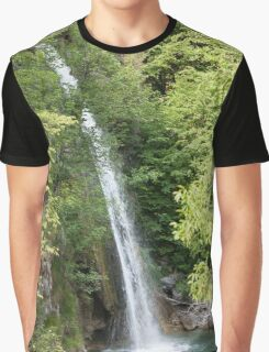 stream and waterfall  in the forest Graphic T-Shirt