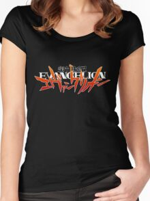 Neon Genesis Evangelion - Anime Logo Women's Fitted Scoop T-Shirt