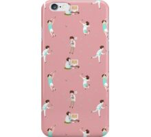 Oikawa Tooru Pattern - pink iPhone Case/Skin