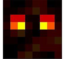 Magma Cube - Minecraft pillow Photographic Print