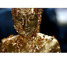 gold buddah Photographic Print