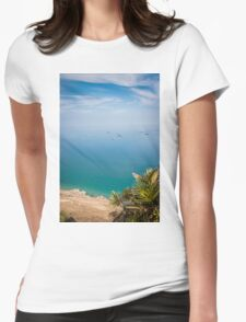Seascape from Gibraltar Womens Fitted T-Shirt