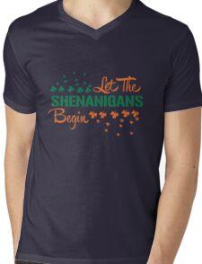 St. Patrick's Day: Let the Shenanigans begin!  Mens V-Neck T-Shirt