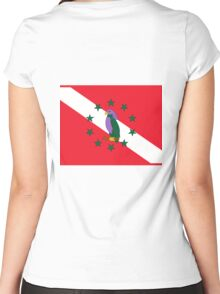 Dominica Diver Down Flag Women's Fitted Scoop T-Shirt