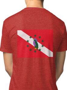Dominica Diver Down Flag Tri-blend T-Shirt