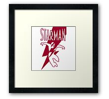 Starman: a new superhero is born Framed Print
