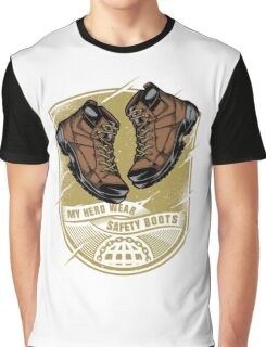 My Hero Wear Safety Shoes Graphic T-Shirt