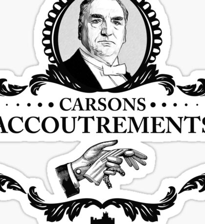 Carsons Accoutrements - Downton Abbey Industries Sticker