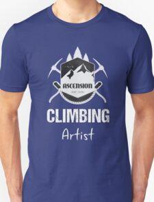 Climbing Artist T-shirt Mountaineering Design Climber mountain Unisex T-Shirt