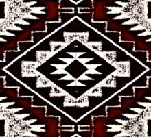 Navajo Vintage Red Crazy Quilt Sticker