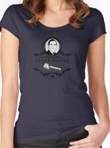 Barrows Close Shave - Downton Abbey Industries Women's Fitted Scoop T-Shirt
