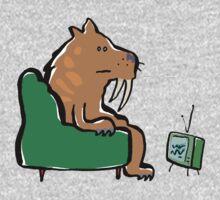 watching TV Kids Tee