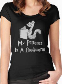 Bookworm Patronus Women's Fitted Scoop T-Shirt