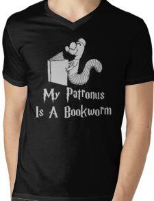Bookworm Patronus Mens V-Neck T-Shirt