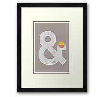 Ampersand Framed Print