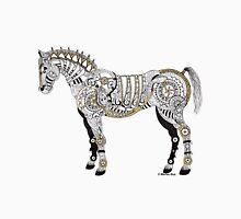 Steampunk Horse - Mechanical Horse Art Print - Gold Unisex T-Shirt