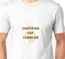 Kitty Silhouette Certified Cat Cuddler Unisex T-Shirt