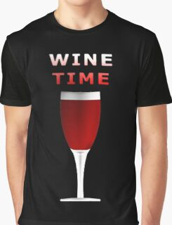 Wine Time Graphic T-Shirt