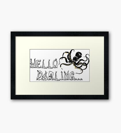 Darling Octopus Framed Print