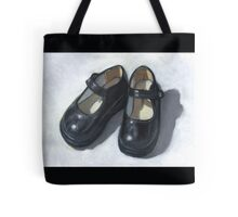 Little Black Shoes: Still Life Painting, Oil Pastel Tote Bag