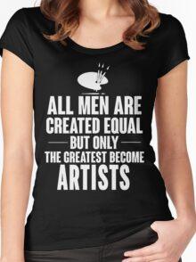 Artist men Women's Fitted Scoop T-Shirt