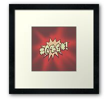 Mild profanity RETRO RED Framed Print