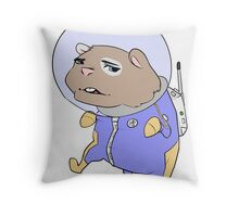 Space hamster Throw Pillow
