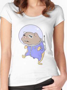 Space hamster Women's Fitted Scoop T-Shirt