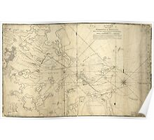 American Revolutionary War Era Maps 1750-1786 011 A Chart of the harbour of Boston with the soundings sailing marks and other directions Poster