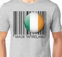KRW Made in Ireland Bar Code Design Unisex T-Shirt
