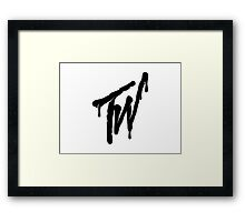 Teen wolf Dark Framed Print