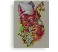 Piggy Pope  Canvas Print
