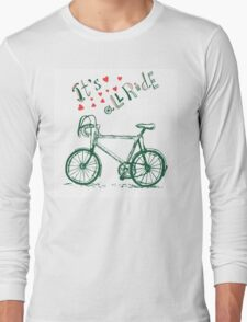Romantic Bicycle  Long Sleeve T-Shirt