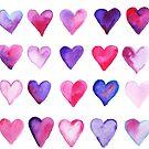 Watercolor Hearts by Joyful Roots by joyfulroots