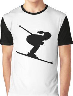 Skiing woman girl Graphic T-Shirt