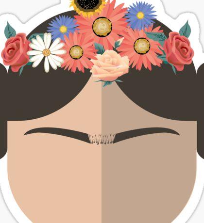 Princess Leia Kahlo Sticker