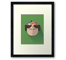 Princess Leia Kahlo Framed Print