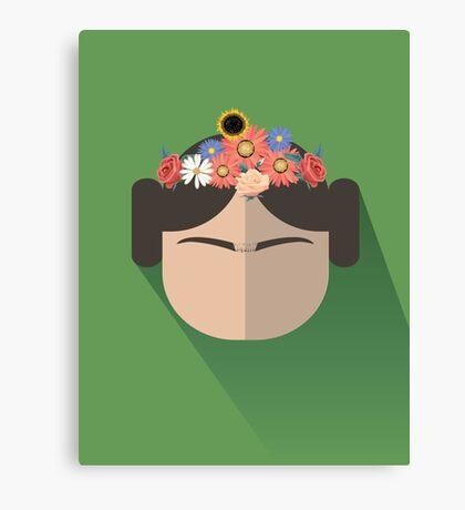 Princess Leia Kahlo Canvas Print