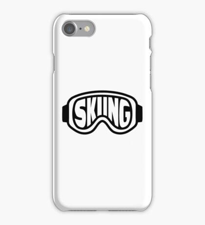 Skiing goggles iPhone Case/Skin