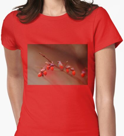Berry Red Womens Fitted T-Shirt