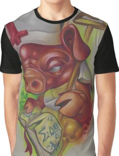 Piggy Pope  Graphic T-Shirt